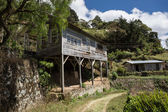 Abandoned dwelling built on beams in Honduras — Stock Photo