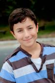 Nice preteen boy smiling — Stock Photo
