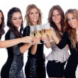 Friends toasting with champagne — Stock Photo #56826545