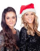 Elegant women celebrating christmas — Stockfoto