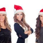 Elegant women in Christmas hats — Stock Photo #58429249