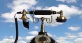 Retro and elegant telephone — Stock Photo