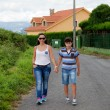 Woman with her son walking — Stock Photo #58780141