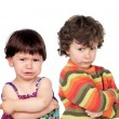 Two angry kids — Stock Photo #58780165