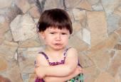 Sad baby girl — Stock Photo