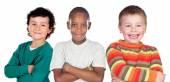 Three funny children  — Stock Photo