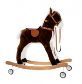 Brown toy horse — Stock Photo