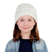 Smiling pretty girl with wool cap  — Stock Photo
