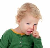 Adorable blond baby — Stock Photo