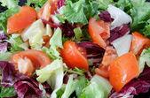 Delicious salad dressed  — Stock Photo