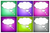 Colorful mosaic thought bubbles blank — Stock Photo