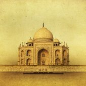 Vintage image of Taj Mahal — Stock Photo