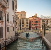 Gondolas at Grand Canal — Stock Photo