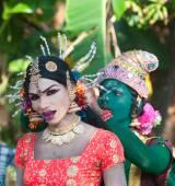 Pooram temple festival — Stock Photo