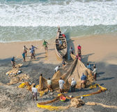 Traditional fishing in  India — Stock Photo