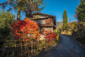 Scenic traditional post town in Japan — Stock Photo