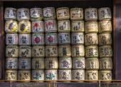 Japanischer Sake-Fässer — Stockfoto