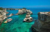 Rocky beach in Puglia — Stock Photo