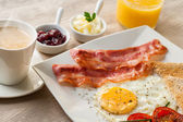 Detail of continental breakfast. — Stock Photo