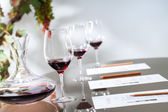 Wine tasting table set — Stock Photo