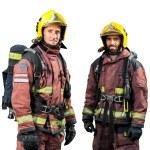 Two firemen isolated. — Stock Photo #62185815