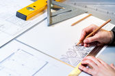 Architect planning home layout. — Foto Stock