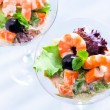 Top view of seafood cocktail starter. — Stock Photo #74715945