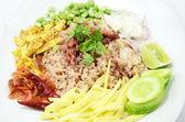 Fried rice with shrimp paste  — Stock Photo
