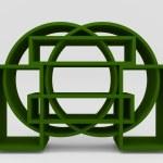 Color green bookshelf circle — Stock Photo #53809167