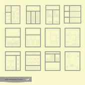 Website Templates Frame — Wektor stockowy