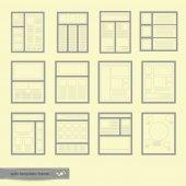 Website Templates Frame — Stock Vector