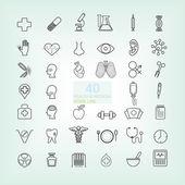 40 Medical & Health line icon — Stock Vector