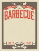 Backyard Barbecue Invitation — Cтоковый вектор