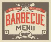 Genuine Southern Barbecue Menu Template — Stock Vector