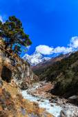 Mountain scenery in Himalaya — Stock Photo