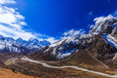 Mountain scenery in Himalaya, Nepal — Stok fotoğraf