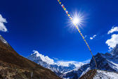 Mountain scenery in Himalaya, Nepal — Foto Stock