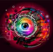 Esoteric eye on a colored background. — Stok fotoğraf