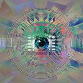 Mystic eye symbol — Stock Photo