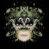 Abstract woman illustration — Stock Photo