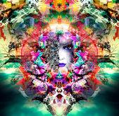 Mystic woman illustration — Stock Photo