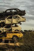 Poškozený rezavé auto zápisků — Stock fotografie