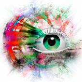Esoteric illustration of eye — Stock Photo
