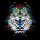 Abstract colorful illustration of tiger — Stock Photo