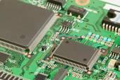 Electronics. Printed circuit board. — Fotografia Stock