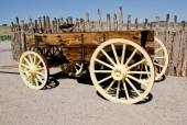 Vintage wooden freight hauling wagon — Photo