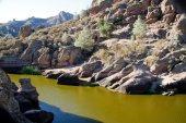 California mountain top reservoir — Stock Photo