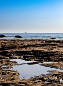 Pacific coast rocky tide pools — Stock Photo