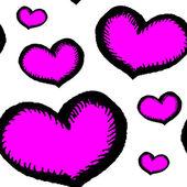 Bezešvé vzor srdce — Stock vektor
