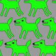 Seamless dogs pattern — Stock Vector #66303313